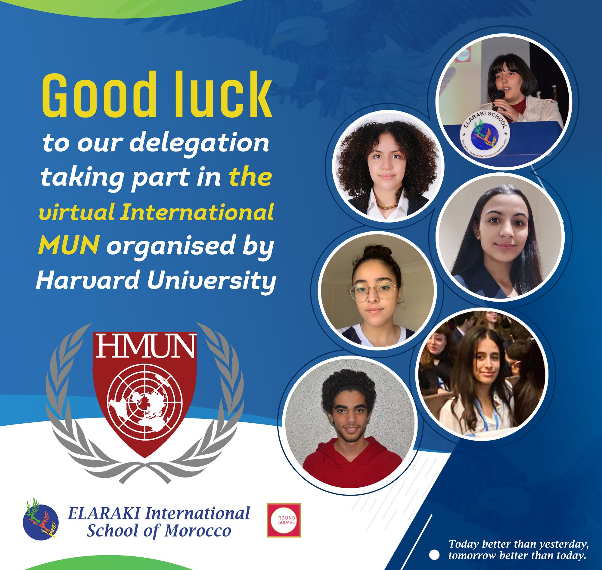 Good luck to our delegates taking part in the virtual International MUN organised by Harvard University