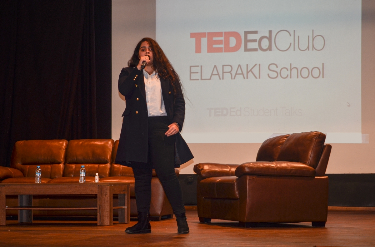 Elaraki school's TED-Ed club held its first TED-Ed student Talks Showcase Event, which focused on passions and ideas.